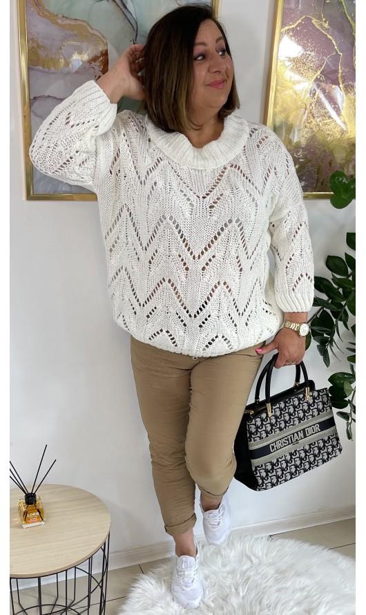 Sweter Tayla White PREMIUM
